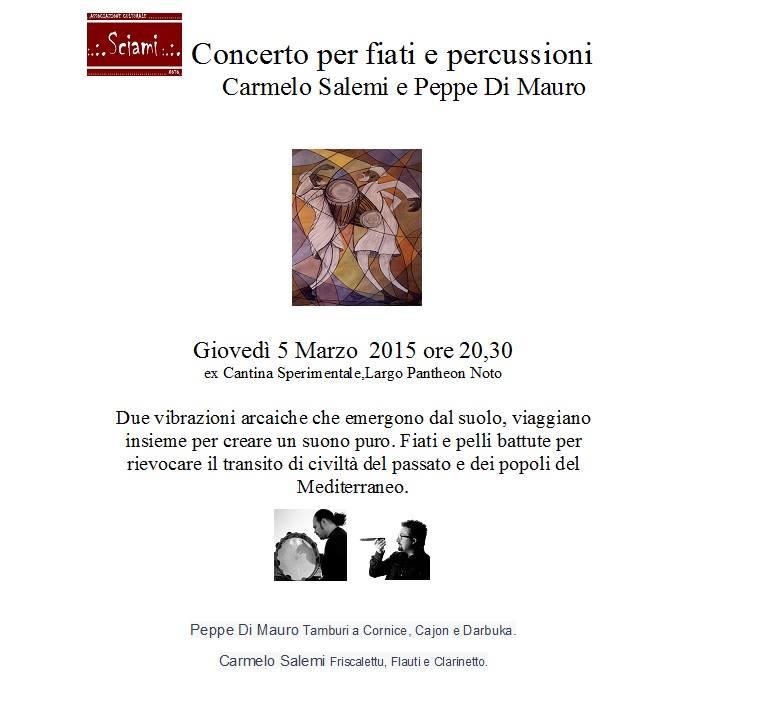 concerto in duo CARMELO SALEMI PEPPE DI MAURO